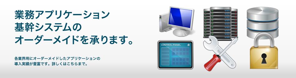 業務系アプリケーションや基幹系システムにおける開発、改修。